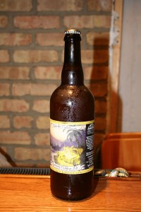 Oro de Calabaza by Jolly Pumpin Artisan Ales in Dexter, MI uses wild yeast bottle conditionig to give a unique aroma and taste.