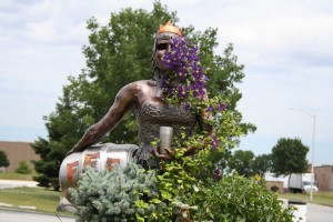 The calumet queen, which is on the other side of the statue (Alpha King) at the entrance to Three Floyds brewery.