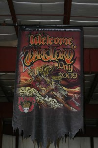 Dark Lord Days 2009 banner hanging from the Three Floyds brewery ceiling.