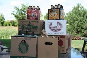 Pile of beer that I picked up while on the brewery hop to south-central Wisconsin.