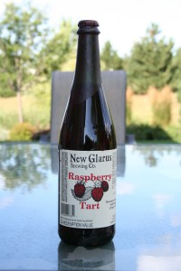 On tap for tonight: New Glarus Brewing Raspberry Tart - the one beer my wife made me pick up on the last trip.  I am expecting sweet and refreshment from this bottle of liquid goodness.