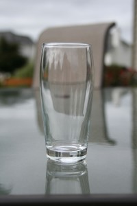 The 7oz glasses my wife picked up from Crate & Barrel for Two Beer Dudes Oktoberfest.