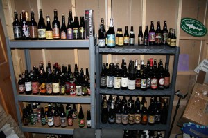 Mark's ginormous and awesome craft beer collection.