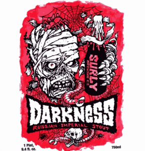 Surly Brewing Co. Darkness 2009 label.