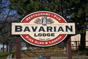 the bavarian lodge sign