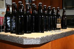 The bottles that are back in action with my first home brew.