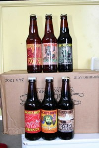 The six Shorts Brewing Company beers that we reviewed.
