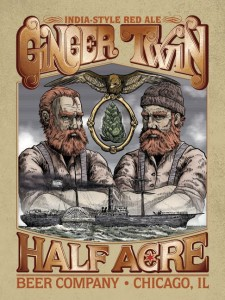New label for Half Acre Ginger Twin