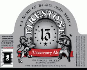 firestone walker brewing company 13 anniversary ale