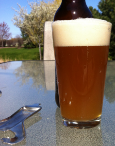 glass of clash of hops