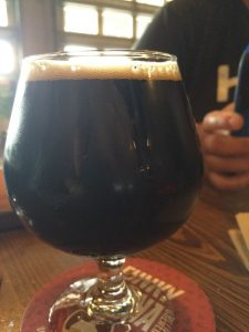 Regrettably, my second and final beer, at Funky Buddha Brewing.  Nikolai Vorlauf is a stout that was probably best served before Clockwork Orange.