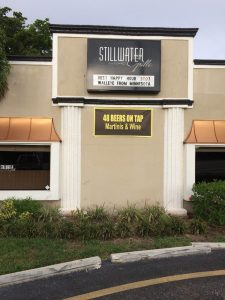 Stillwater Grill was about the best place in the area that had a solid beer line up and food.