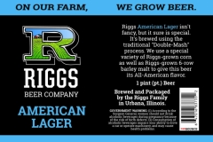 Riggs Beer Company - American Lager