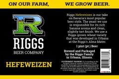 Riggs Beer Company - Hefeweizen