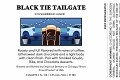 Empirical Brewery - Black Tie Tailgate Schwarzbier
