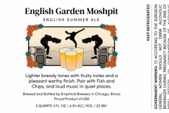 Empirical Brewery - English Garden Moshpit English Summer Ale
