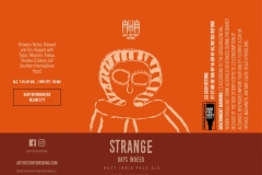 Art History Brewing - Strange Days Indeed Hazy India Pale Ale