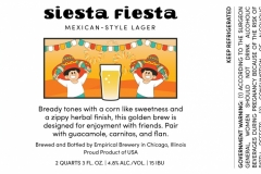 Empirical Brewery - Siesta Fiesta Mexican Style Lager