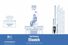 Art History Brewing - Good Morning Munich Bavarian Style Helles Lager