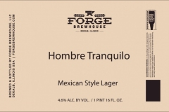 Forge Brewhouse - Hombre Tranquilo Mexican Style Lager