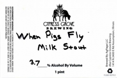 Cypress Grove Brewing - When Pigs Fly Stout