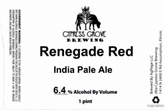 Cypress Grove Brewing - Renegade Red
