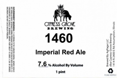Cypress Grove Brewing - 1460 Imperial Red Ale