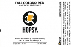 Empirical Brewery - Hopsy. Fall Colors: Red American Amber Ale