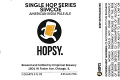 Empirical Brewery - Hopsy. Single Hop Series Simcoe American India Pale Ale