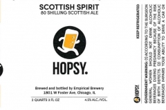 Empirical Brewery - Hopsy. Scottish Spirit 80 Shilling Scottish Ale