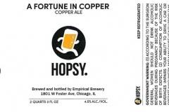 Empirical Brewery - Hopsy. A Fortune In Copper Copper Ale