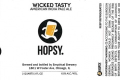 Empirical Brewery - Hopsy. Wicked Tasty American India Pale Ale