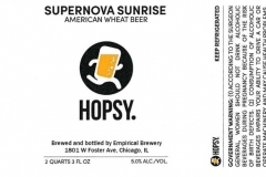 Empirical Brewery - Hopsy. Supernova Sunrise American Wheat Beer