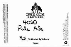 Cypress Grove Brewing - 4020 Pale Ale