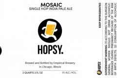 Empirical Brewery - Hopsy. Mosaic Single Hop India Pale Ale