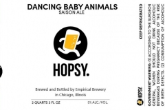 Empirical Brewery - Hopsy. Dancing Baby Animals Saison Ale
