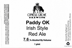 Cypress Grove Brewing - Paddy Ok
