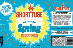 Short Fuse - Hops Into Spring Ddh Double Ipa