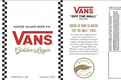 Goose Island Beer Co. - Vans Golden Lager