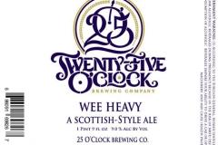 25 O'Clock Brewing Company - Wee Heavy