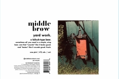 Middle Brow Beer Co. - Yard Work
