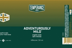 Temperance Beer Co. - Adventurously Mild