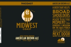 Midwest Coast Brewing Company - West Town Brown American Brown Ale