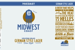 Midwest Coast Brewing Company - Holstein Helles German Style Lager