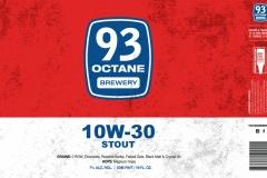 93 Octane Brewery - 10w-30 Stout