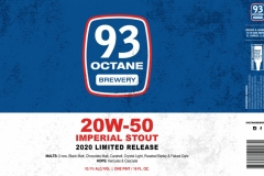 93 Octane Brewery - 20w-50 Imperial Stout 2020 Limited Release