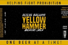 Recess Brewing - Yellow Hammer