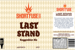 Short Fuse Brewing Company - Last Stand Roggenbier Ale