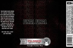 Holzlager Brewing Company - Final Final Pilsner