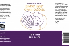 Bold Dog Beer Company - Sunday Night Couch Cuddles India Style Pale Lager